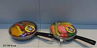 Посуда с продуктами 2 вида, сетка 31*20*6см (84шт)(2386)