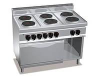 Плита электрическая GGM EHB179E+EB8S 6 конфорок (15,6 кВт) + шкаф духовой электрической (7,5 кВт)