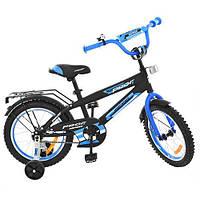 Детский двухколесный велосипед 16 дюймов, Inspirer черно-синий (G1653)