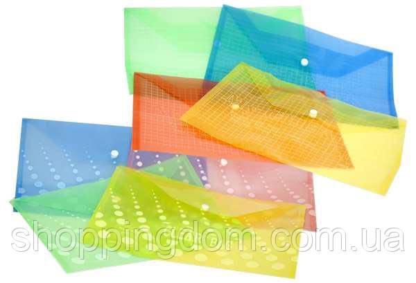 Папка А4, пластик на кнопке, 160 микрон, ЦЕНА ЗА УП., В УП.12ШТ(1200шт)(W209-A4-16c) - ШоппингДом в Днепре