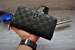Мужской клатч, портмоне Луи Виттон Louis Vuitton чёрный (реплика)