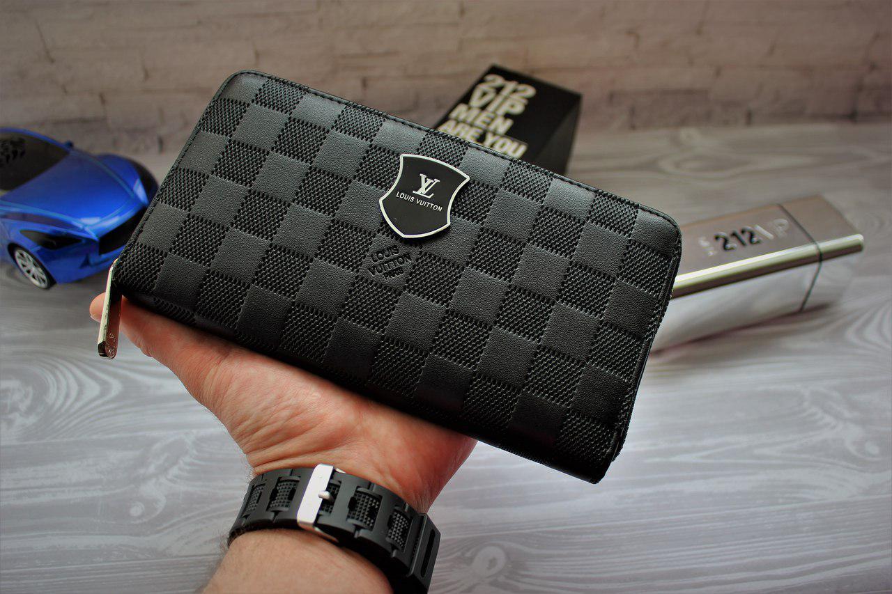 5125423e706f Мужской клатч, портмоне Луи Виттон Louis Vuitton чёрный (реплика) , цена  470 грн., купить в Киеве — Prom.ua (ID#678083577)