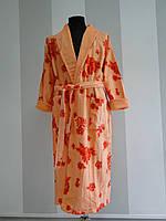 Длинный женский халат из велюра с воротником  Vevien  Турция   pr-hj190