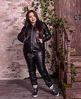 Шкіряна курточка на великих жінок, з 48 по 82 розмір