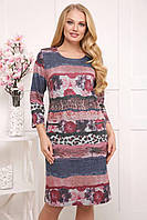 Платье Блумен р 52-62 розовое, фото 1