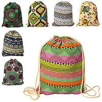 Сумка рюкзак для обуви, 1отд.на затяжке, 6видов, 43*34см (120шт)(MK1071)