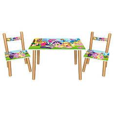 Столик 501-26 LP,д60-ш40-в42см,со стульчиком,ш30-г30-в51см,высот.до сид.22см,