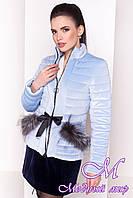 Красивая женская велюровая куртка весна-осень (р. XS, S, M, L) арт. Дезире 4452 - 21968