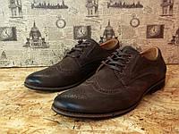 Туфли мужские дерби YDG Bellini 1723 с натуральной кожи стильные, фото 1