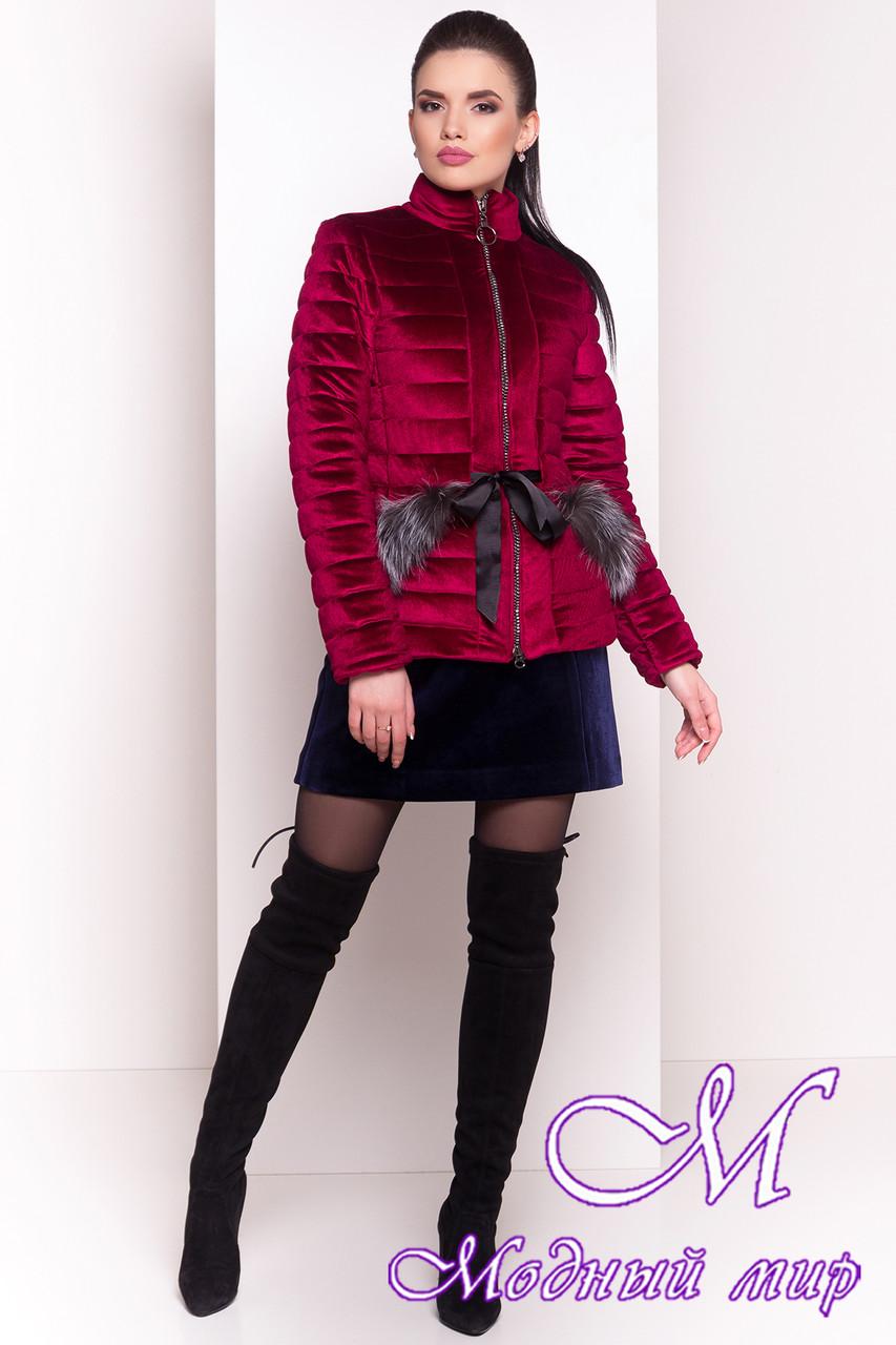 Женская красивая велюровая куртка весна-осень (р. XS, S, M, L) арт. Дезире 4452 - 21637
