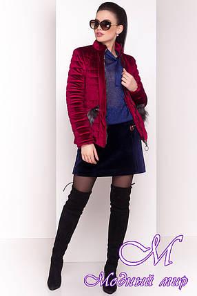 Женская красивая велюровая куртка весна-осень (р. XS, S, M, L) арт. Дезире 4452 - 21637, фото 2