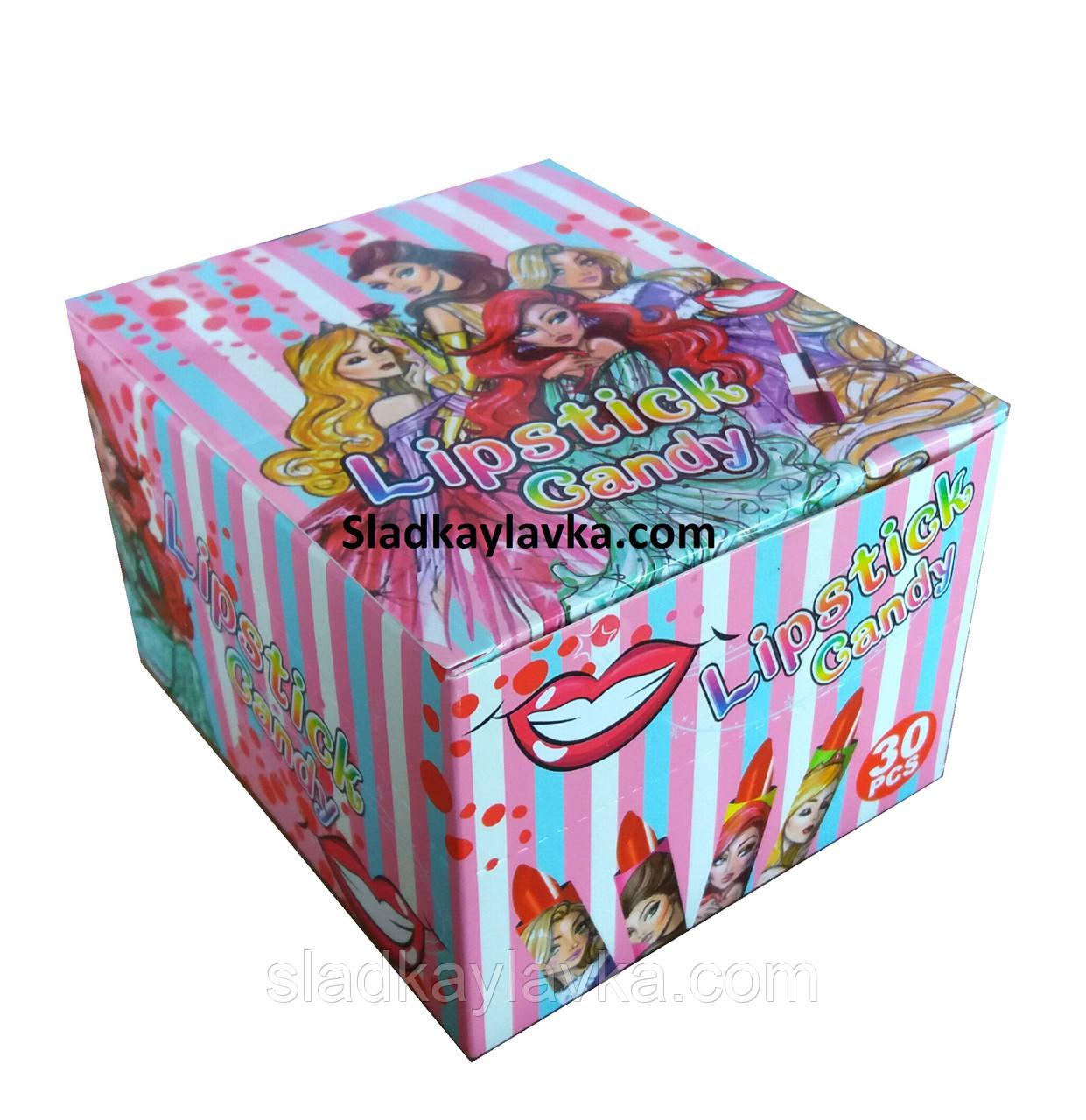 Карамель леденец Помада Lipstic candy 30 шт (Китай)