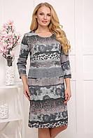 Платье Блумен р 50-60 серое, фото 1