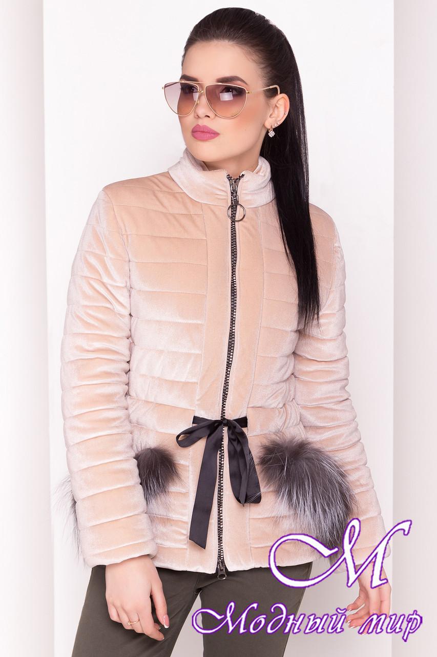 Велюровая женская куртка весна-осень (р. XS, S, M, L) арт. Дезире 4452 - 21967