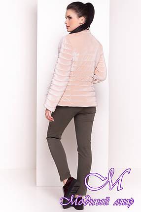Велюровая женская куртка весна-осень (р. XS, S, M, L) арт. Дезире 4452 - 21967, фото 2