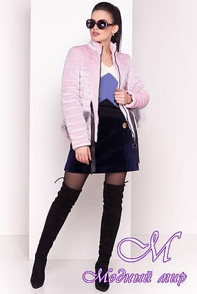 Стильная велюровая демисезонная куртка (р. XS, S, M, L) арт. Дезире 4452 - 21638, фото 2