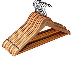 Деревянные вешалки для одежды 10 шт.