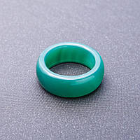 Кольцо из натурального камня зеленый Агат