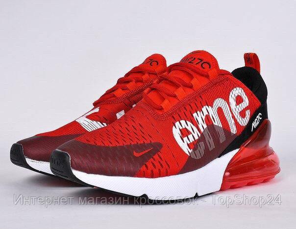 Кроссовки женские Nike Air Max 270 Flyknit x Supreme