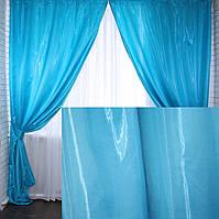 """Комплект готовых штор, коллекция """"Монорей""""Цвет голубой.213ш, фото 1"""