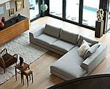 Угловой диван RALPH на хромированной базе фабрика ALBERTA (Италия), фото 3