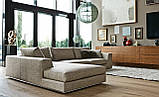 Угловой диван RALPH на хромированной базе фабрика ALBERTA (Италия), фото 4