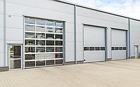 Промышленные ворота Alutech с калиткой 4500х3085 мм, фото 1