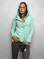 Демисезонная женская куртка красивого оттенка мята. Размеры в наличии L, XL, XXL.