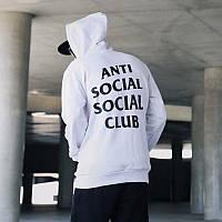 Толстовка белая принт A.S.S.C. Anti social social club Mind Games | Худи стильная
