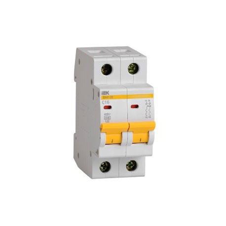 Автоматический выключатель  (2p, 25А) IEK MVA20-2-025-B