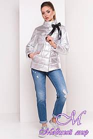 Жіноча демісезонна куртка фольга срібло (р. XS, S, M, L, XL) арт. Эллария 4589 - 21964