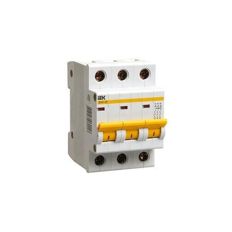 Автоматический выключатель  (3p, 20А) IEK MVA20-3-020-B