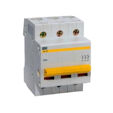 Выключатель нагрузки ВН-32 3Р  25А IEK MNV10-3-025
