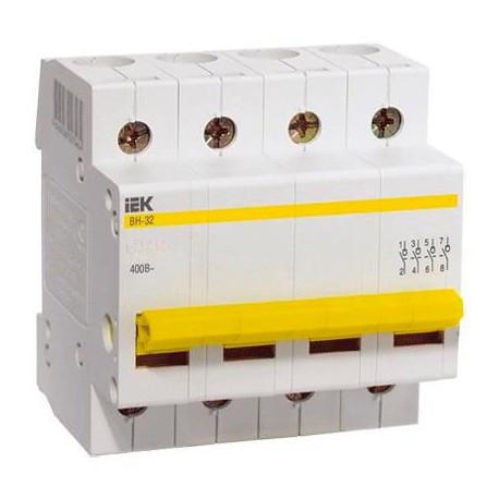 Выключатель нагрузки ВН-32 4Р  25А IEK MNV10-4-025