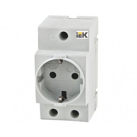 Розетка РАр10-3-ОП с заземл. контактом на DIN-рейку IEK MRD10-16