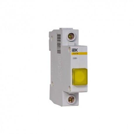 Сигнальная лампа ЛС-47 (желтая) (неон) IEK MLS10-230-K05