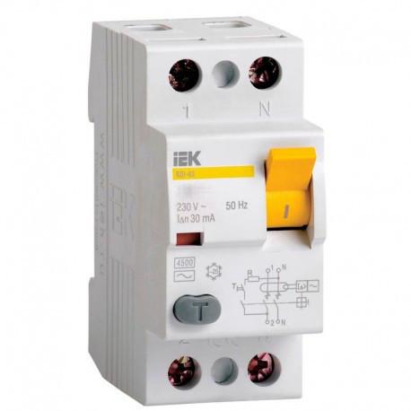 УЗО (2x80 А, 30 mА,AC) IEK MDV10-2-080-030