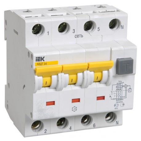 Дифференциальный автоматический выключатель (10 A,30 mA,A) IEK MAD22-6-010-C-30