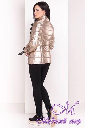 Женская демисезонная куртка фольга золото (р. XS, S, M, L, XL) арт. Эллария 4589 - 21749, фото 2