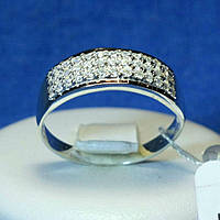 Серебряное кольцо с золотыми накладками Дорожка кс 762з.нак