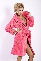 Короткий женский халат с капюшоном DKaren Польша   DKaren-02