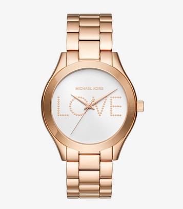Часы Michael Kors Slim Runway Rose Gold MK3804