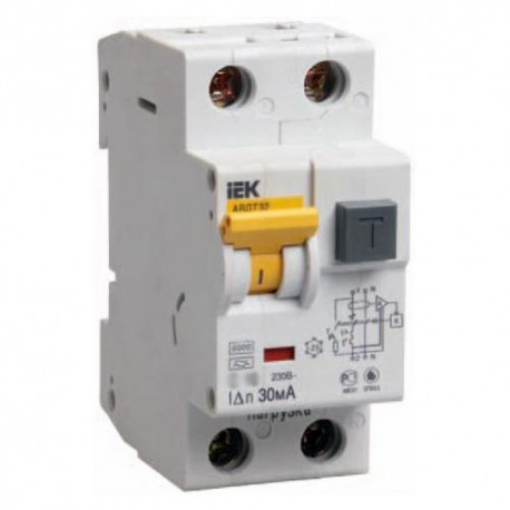 Дифференциальный автоматический выключатель (10 A,30 mA,A) IEK MAD22-5-010-C-30