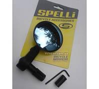 Дзеркало Spelli Кругле, кріплення в торець керма, покриття антивідблиску, фото 1