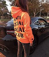 "Толстовка ""В стиле Anti social social club Paranoid Undefeated"" | Худи assc, фото 1"
