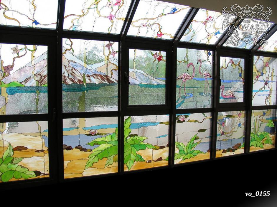 Витражные окна в зимний сад