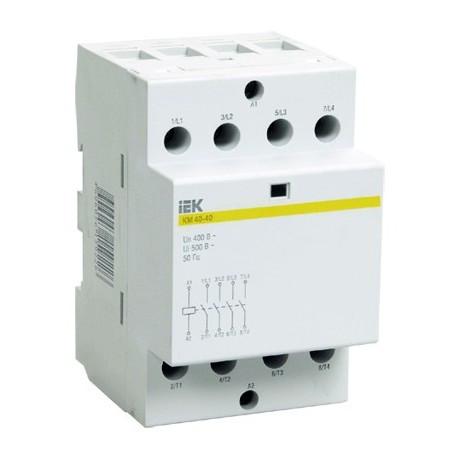 Контактор модульный (4 Н.О. 40А 380АС 4м) IEK MKK20-40-40