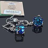 Серьги Кубик с кристаллом Swarovski , фото 3