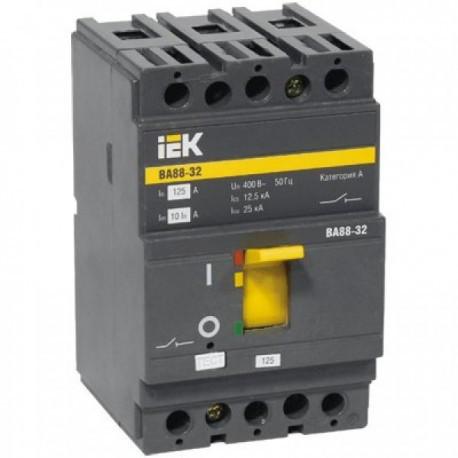 Корпусний автоматичний вимикач ВА88-32 (3Р 125А 25кА) IEK SVA10-3-0125