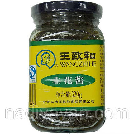 Паста зеленная (лук порей) Wangzhihe, 320 г, фото 2
